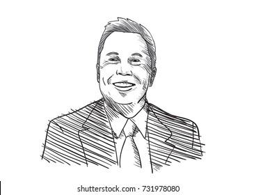Elon Musk Vector Illustration