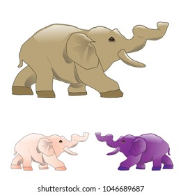 elphant baby vector art