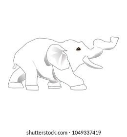 elphant baby vector art