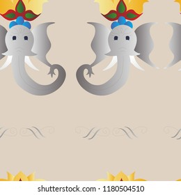 Elphant Pattern: Perfect for scrapbooking. Or you can use it in other ways – as a wallpaper, background for blog & etc.