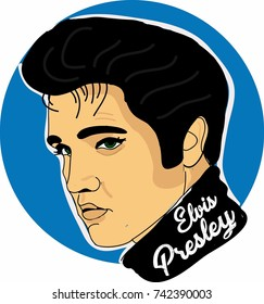 Elvis presley vector illustrator wallpaper background