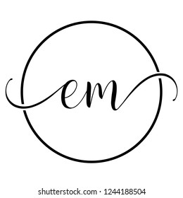 em icon logo