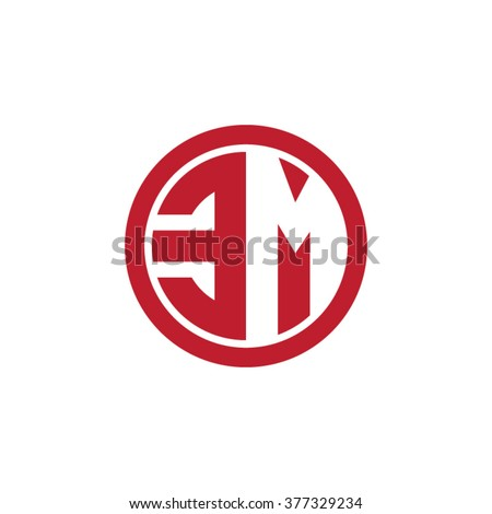 EM Initial Letters Circle Business Logo Stock Vector Royalty Free