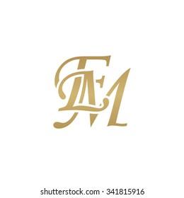 EM initial monogram logo