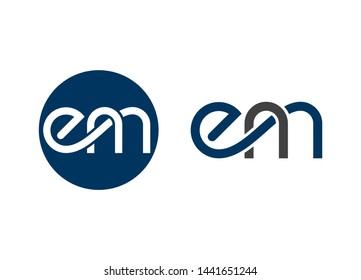 EM Letter logo, EM logo, Letter mark logo