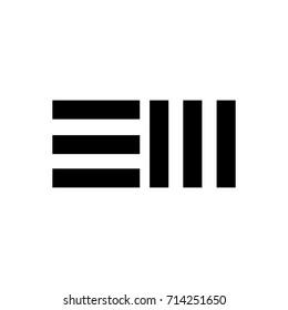 em letter logo vector