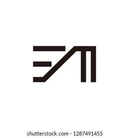 em letter vector logo