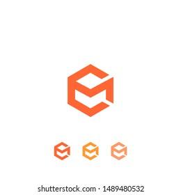 EM M Eletter logo collection