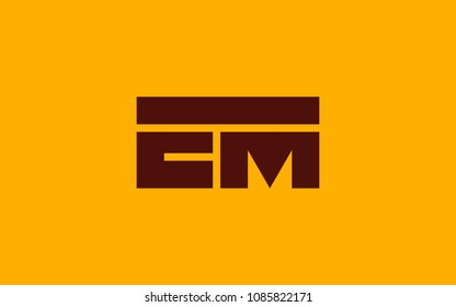 EM ME Letter Initial Logo Design Template