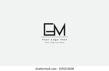 EM ME letter logo. Unique attractive creative modern initial EM ME E M initial based letter icon logo