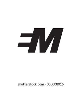 EM negative space letter logo