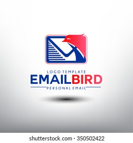Email Bird. Logo template For Personal Email Company