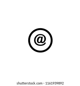 email circular button