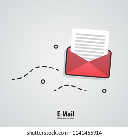 E-mail concept. Marketing e-mail.