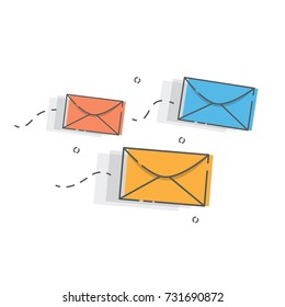 E-mail concept . Marketing e-mail.