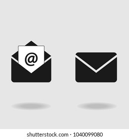 Email icon, envelope icon. Vector