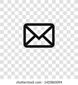 email icon from miscellaneous collection for mobile concept and web apps icon. Transparent outline, thin line email icon for website design and mobile, app development