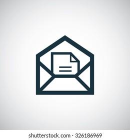 e-mail icon, on white background