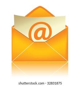 E-mail icon, orange #2 / vector