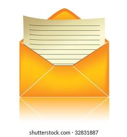 E-mail icon, orange #3 / vector