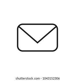 Email icon. Outline email icon isolated on white background
