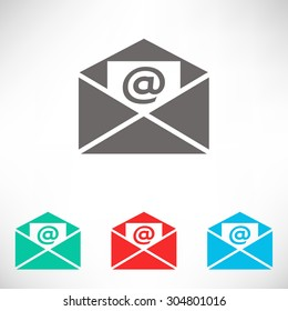 Email icon. Set of varicolored icons.