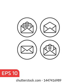 Email icon template color editable. Message symbol vector sign isolated on white background illustration for graphic and web design.