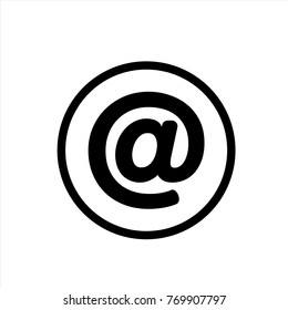 Email icon in trendy flat style isolated on background. Email icon page symbol for your web site design Email icon logo, app, UI. icon Vector illustration, EPS10.