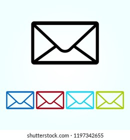 Email icon vector, Envelope sign, Mail symbol