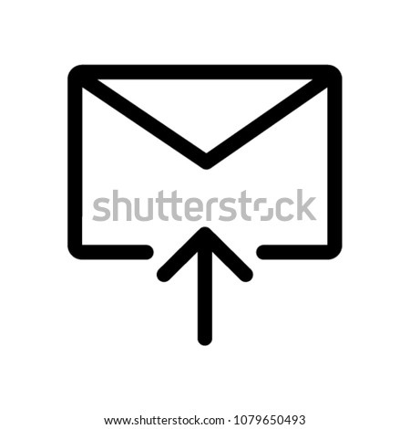 Email Icon Vector Pictogram Sign Stock Vector Royalty Free