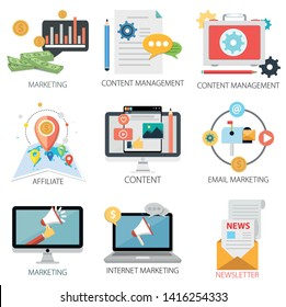 Email Icons, Content Management, Email Marketing, News icon, Research and Internet Marketing Icons, Mail Icons
