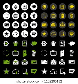 Email Icons - message icon, envelope illustration - vector mail icon, send letter isolated
