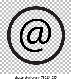 email isolated on transparent. email web icon flat design style. email web sign.