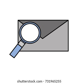 email and magnifier envelope message find