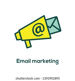 Email marketing campaigns icon w bullhorn
