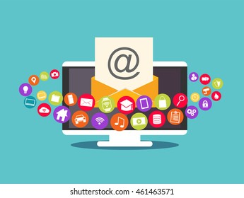 Email marketing. Email contents. Multimedia email.