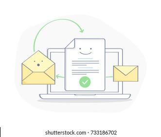 Ilustraciones, imágenes y vectores de stock sobre Send a