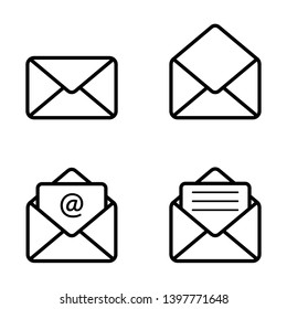 email message envelope icon vector