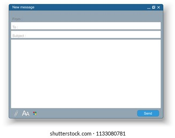 Email message form. Vector Illustration
