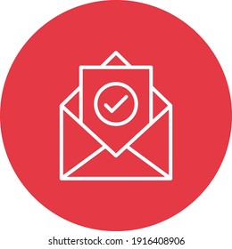 Email, post, send icon vector image. Can also be used for cyber security. Suitable for use on web apps, mobile apps and print media.