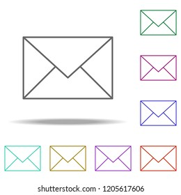 email sign icon. Elements of Web in multi color style icons. Simple icon for websites, web design, mobile app, info graphics