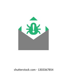Email, spam icon. Element of Cyber and Security icon for mobile concept and web apps. Detailed Email, spam icon can be used for web and mobile