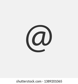 Email vector icon solid grey