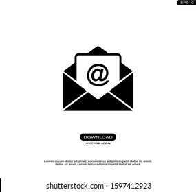 Email Vector Icons in trendy flat style isolated on white background.eps10