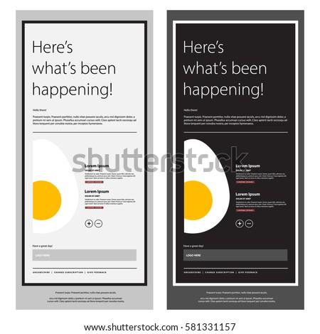 emailer newsletter design template egg vector stock vector royalty