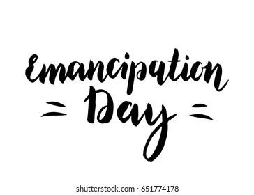 Emancipation Day vector illustration.