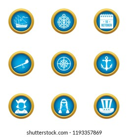 Emancipation icons set. Flat set of 9 emancipation vector icons for web isolated on white background