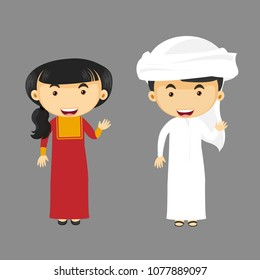 EMARATI KIDS VECTOR,NATIONAL,TRADITIONAL CUSTOM