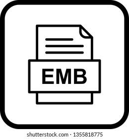 EMB File Document Icon