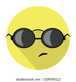 43d6f803d75 embarrassed face with sunglasses emoji - emoticon with embarrassed face  wearing dark sunglasses that is used